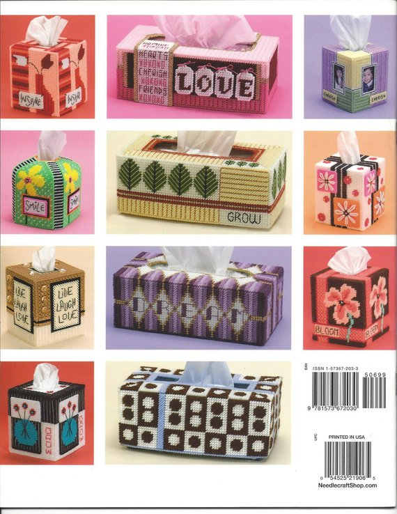 Plastic Canvas BRIGHT /& FUN Tissue Toppers Project Book