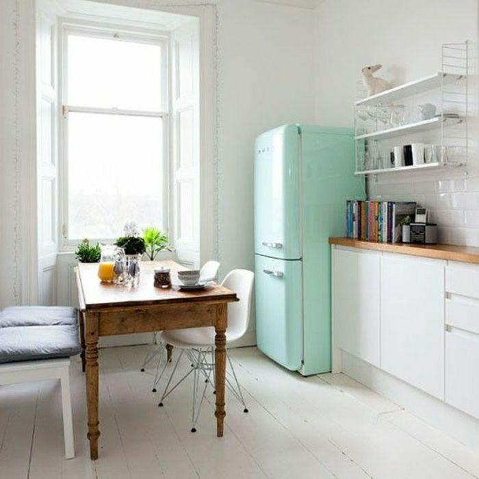 cuisines frigo bleu ciel - Frigo Bleu