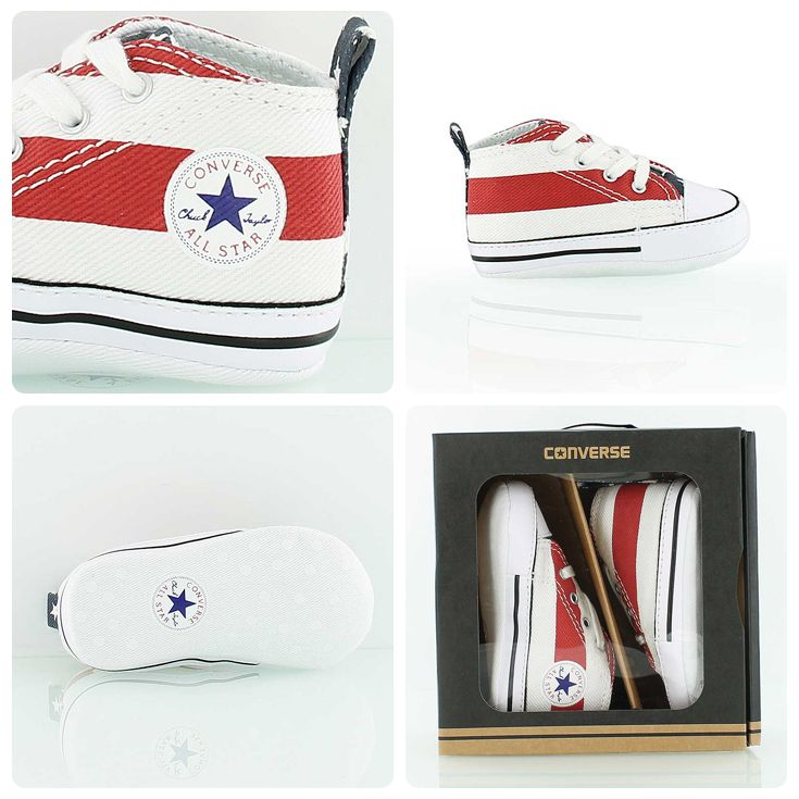 3e1e74a06716 First Star  The Converse Chuck Taylor All-Star for kids. In Stars and  Stripes design