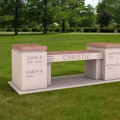 Cremation Memorial Bench Urn For The Christie Family Memorial Benches Monument Granite Monuments