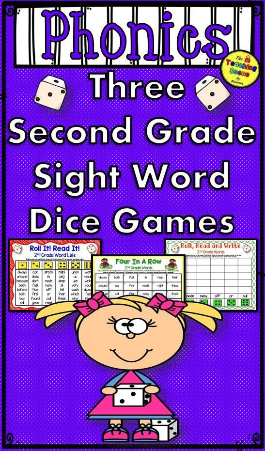Second Grade Sight WordPractice Three Dice Games Kids