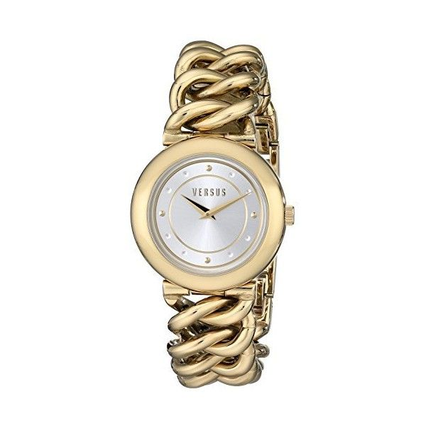 7bf700c0c2c57 Versus by Versace Brickell Silver Dial Gold Ion-plated Chain Link... (360  EGP) ❤ liked on Polyvore featuring jewelry