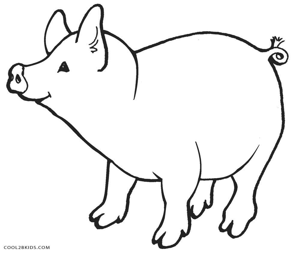 10 Coloring Page Pig Farm Animal Coloring Pages Animal Coloring Pages Cow Coloring Pages