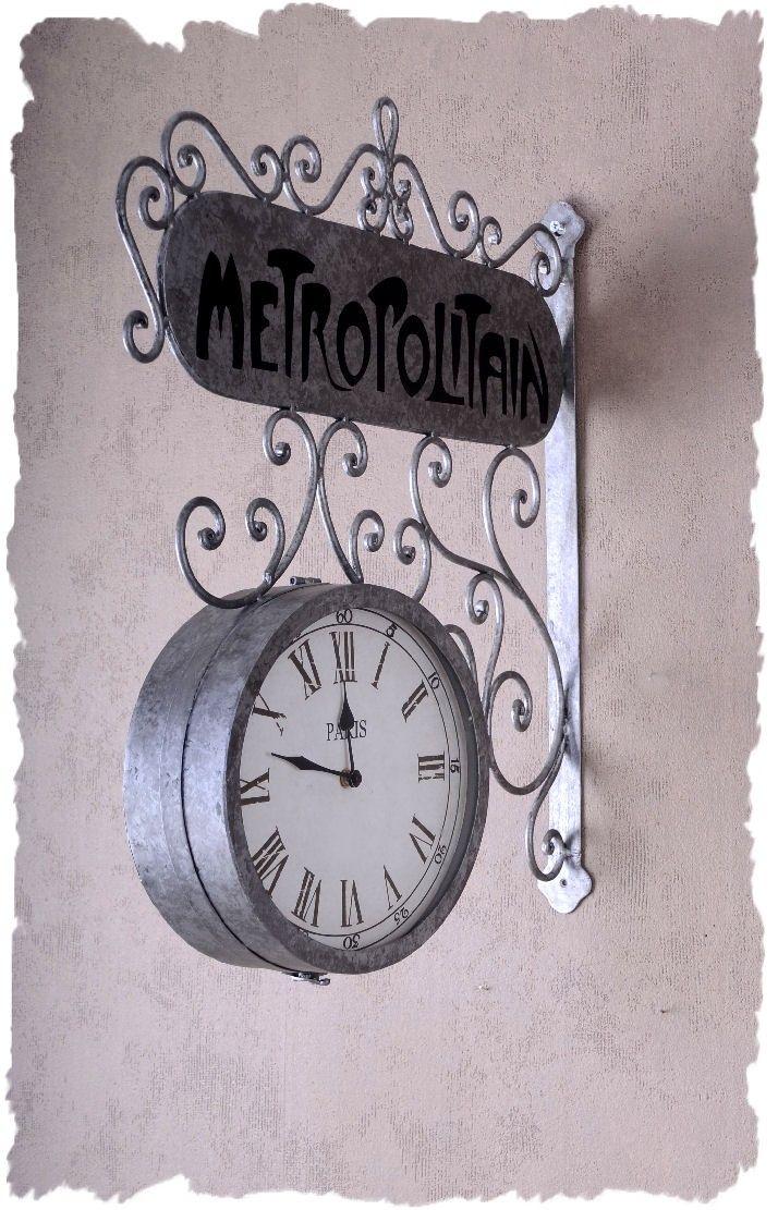 Bahnhofsuhr Metropolitain Paris Font!