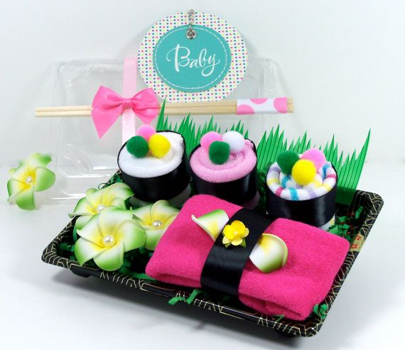 Baby Shower Gift Set Sushi Wash Cloth For Baby Girl Genuine