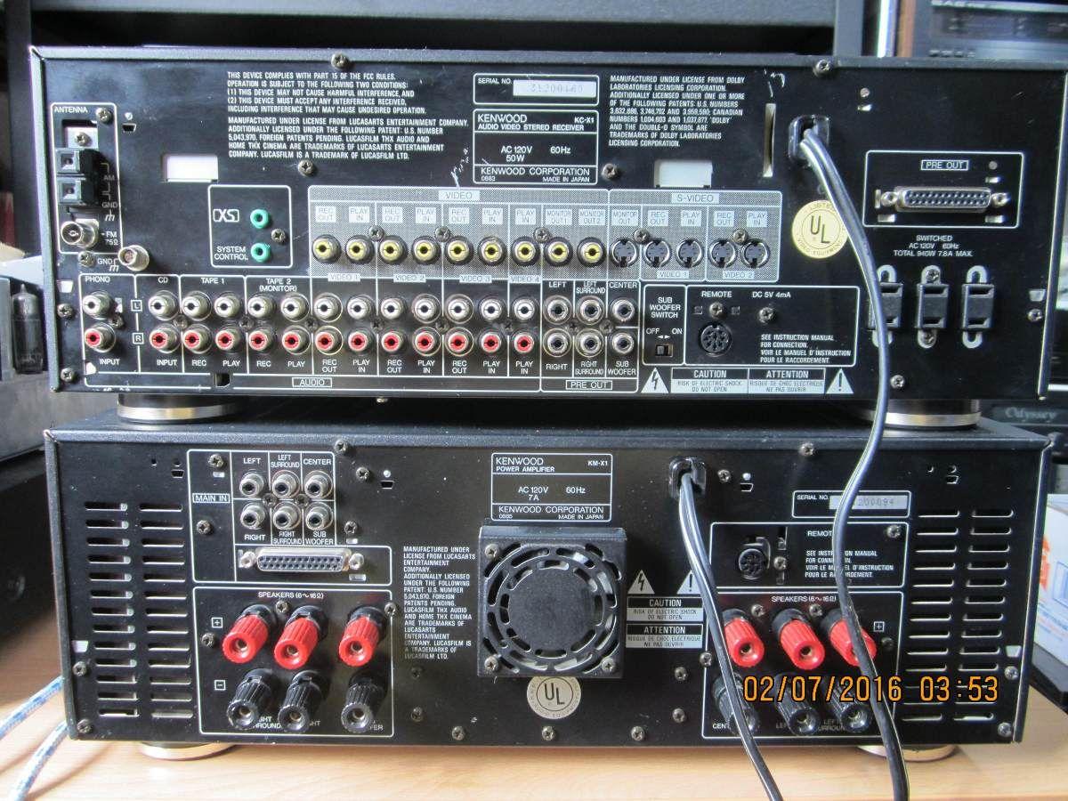 Preamplificador Kc-x1 Y Amplificador Kenwood Km-x1 No Rotel ...