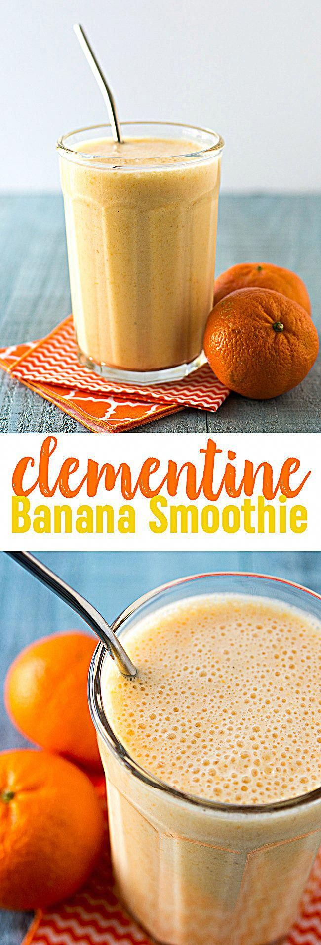 Clementine Banana Smoothie This bright, sunny smoothie is sweet and delicious. - Clementine Banana Smoothie Recipe   Orange Banana Smoothie   Sunshine Smoothie Recipe   Vitamin C Smoothie   Cuties   Mandarin #foodielife #chicken #foodquotes #foodismedicine #foodstagram #foodphotograph #healthyfood #Foods4Thought #photography #FoodStylist #food52 #delicious #foodfestival #italianfood #fooddelivery #smoothierecipeshealthy