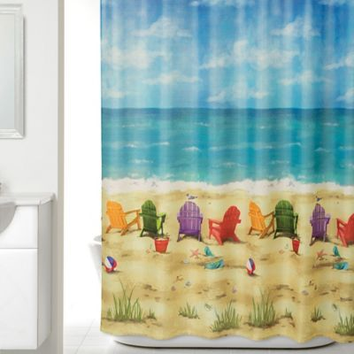 Beach Scene Shower Curtain Beach Shower Curtains Beach Theme