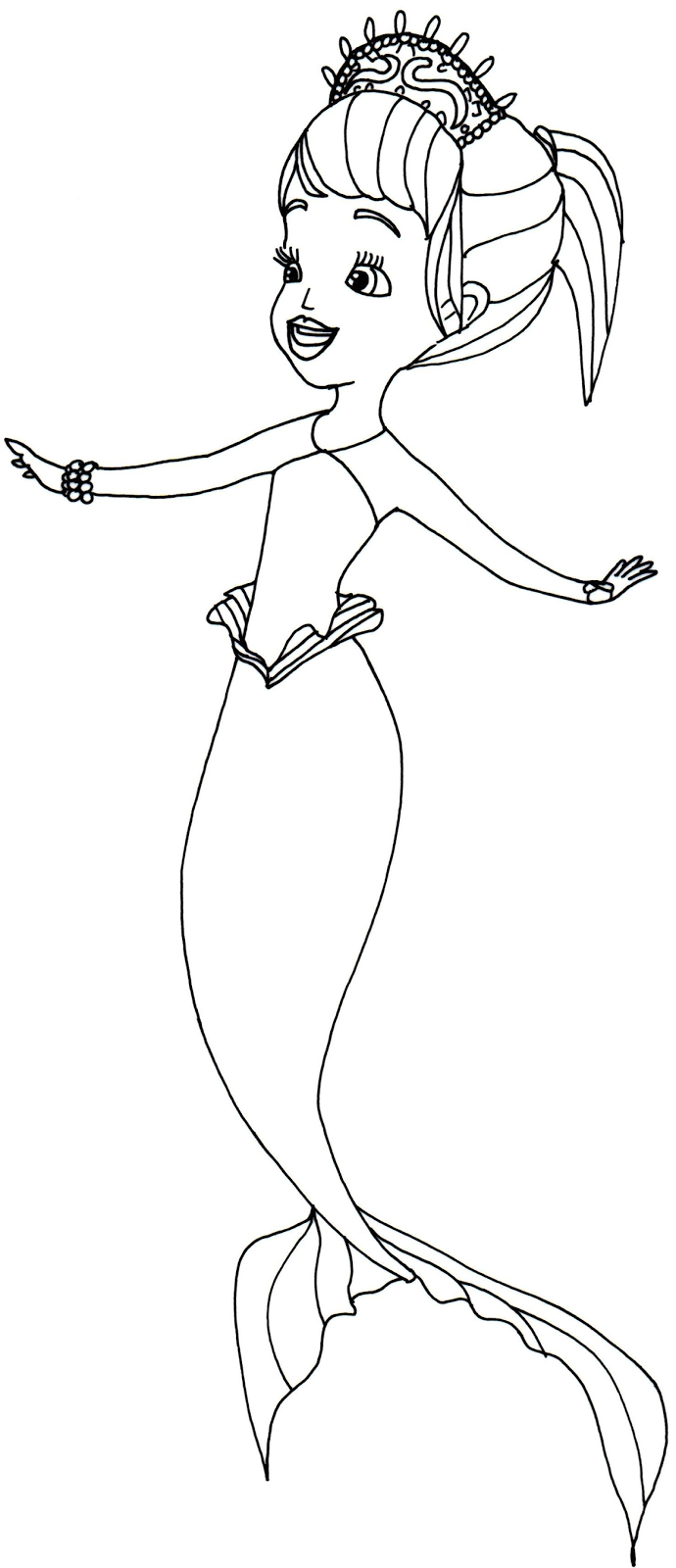 Oona Sofia The First Coloring Page Mermaid Coloring Pages Mermaid Coloring Princess Coloring Pages