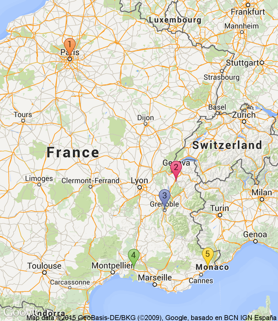 France Friends Trip Itinerary Paris Nights Annecy - Paris to nice