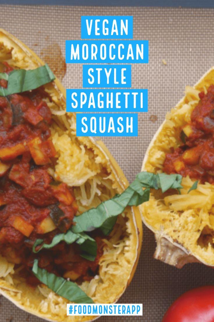 Moroccan Style Spaghetti Squash Vegan In 2019 Vegan