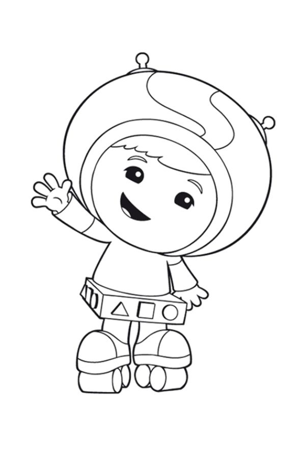 coloring page team umizoomi - geo rollerskates | coloring pages ... - Team Umizoomi Bot Coloring Pages