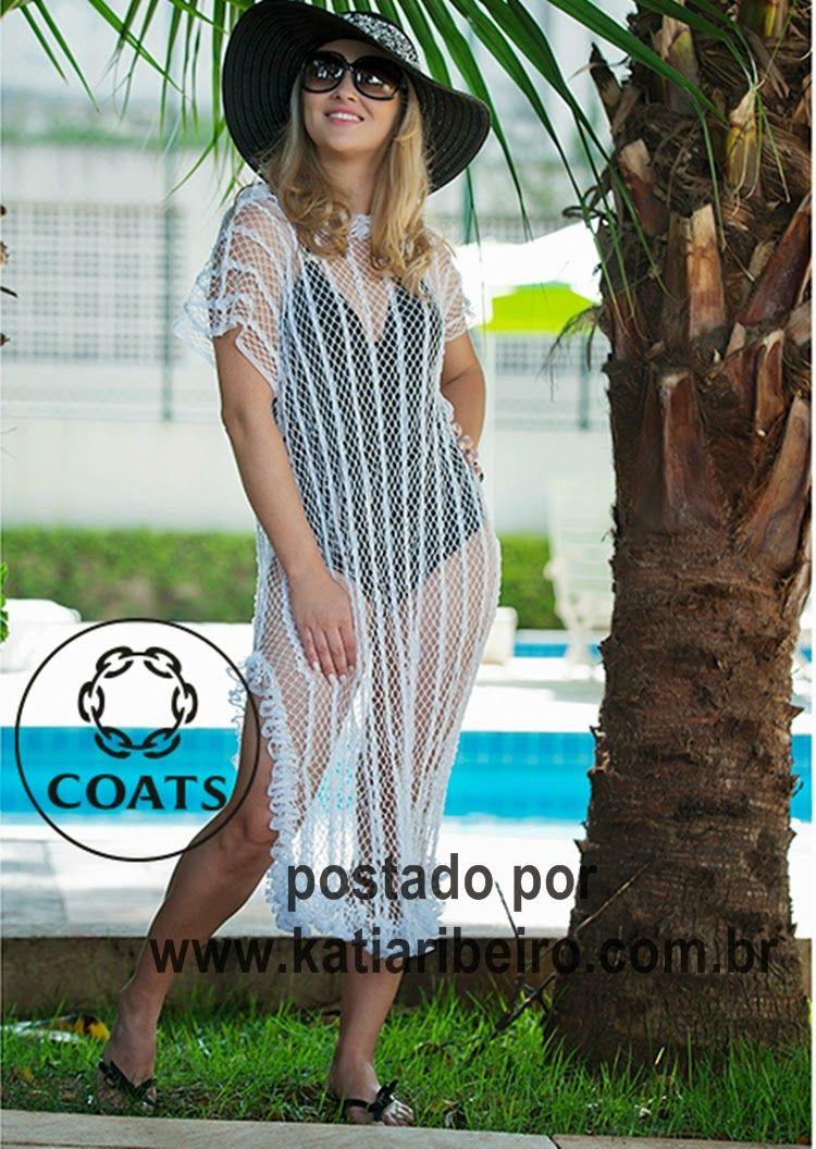 Katia Ribeiro Moda & Decoração Handmade: Saída de praia com gráfico e receita pro Noemi Fon...