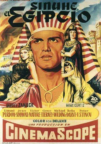 Foto 9. Programa de mano de la película Sinuhé el egipcio, dirigida por Michael Curtiz en 1945 y basada en la exitosa novela homónima del escritor finlandés Mika Waltari.