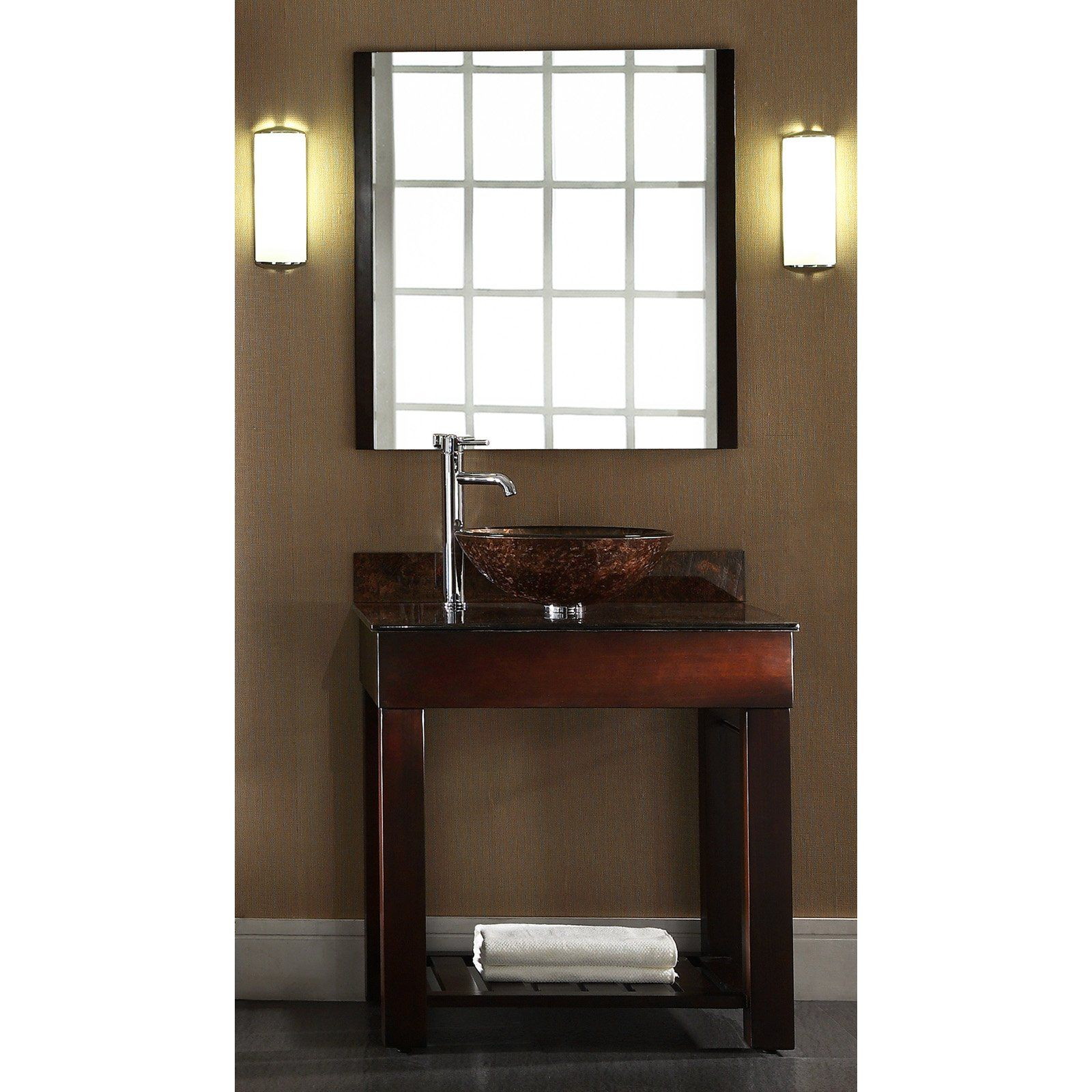 Images Photos Xylem Europa in Single Bathroom Vanity with Stone