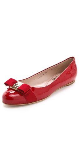 c8cb159e605de varina classic bow flats   salvatore ferragamo Zapatos De Piso, Zapatos  Rojos, Zapatos Planos
