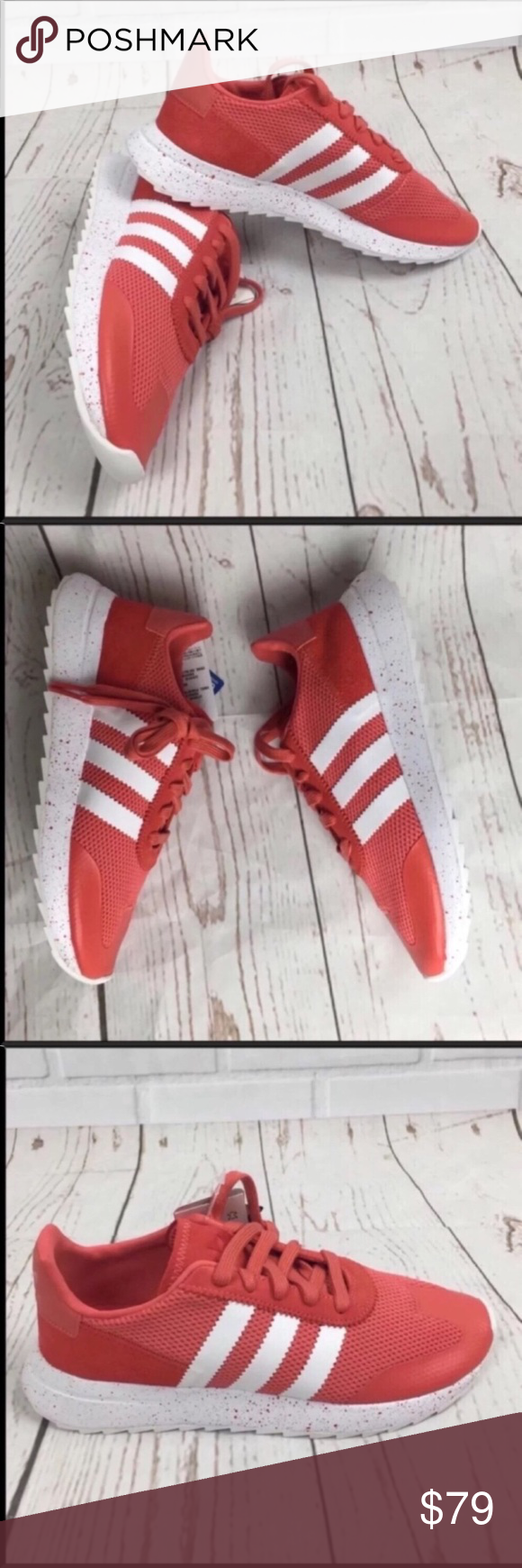 c42c563826faea Adidas Flashback Women s 8 NEW Trace Scarlet Cloud White Jersey lining Mesh  upper with aquatech print overlay at the toe and suede details adidas Shoes  ...