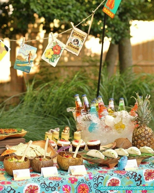 tropical themed party ideas free printables recipes pinterest
