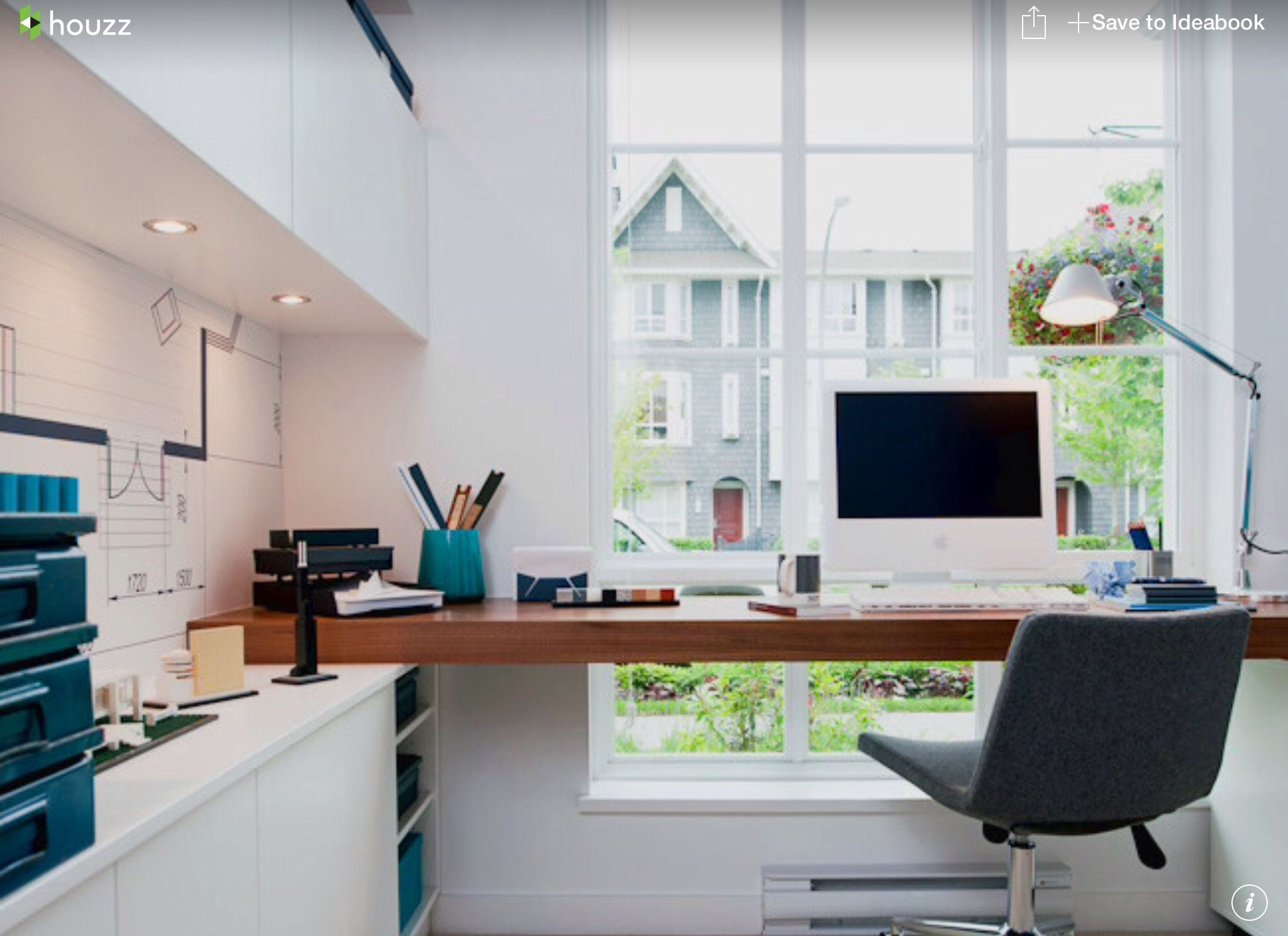 Home Office Floating Desk Desk In Front Of Window Small Home