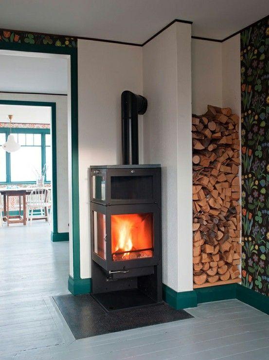 wood stove #firewoodstorage