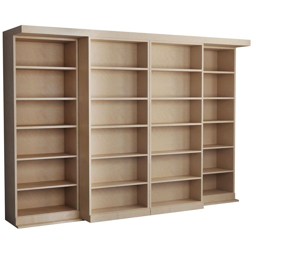 The Abbott Library Murphy Bed In Oak Unfinished Imagine The