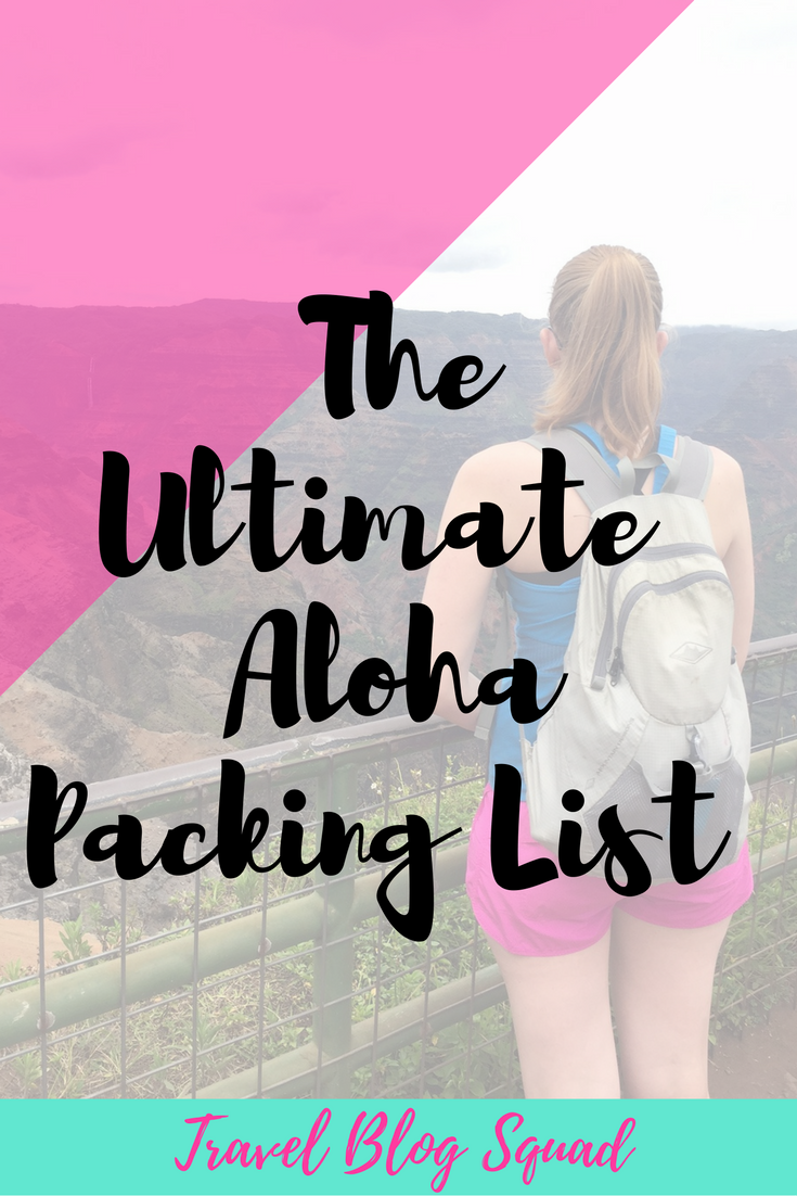 FREE RESOURCE LIBRARY] The Ultimate Aloha Packing List