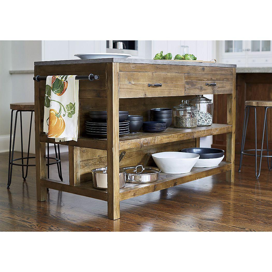 Shop Bluestone Reclaimed Wood Large Kitchen Island Hand Assembled With Ton Wood Kitchen Island Reclaimed Wood Kitchen Island Kitchen Island Design