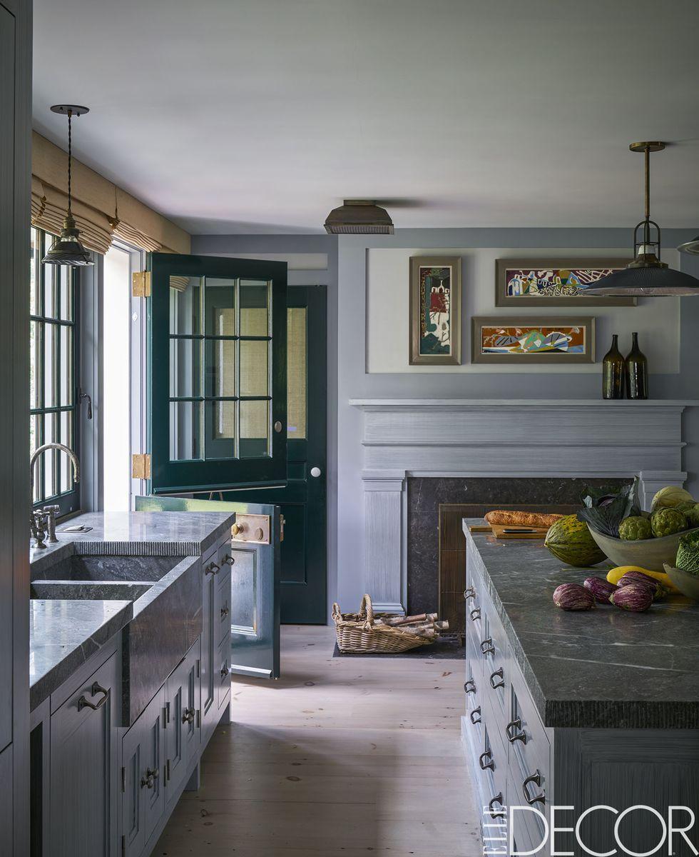 kitchen mantel decorating ideas in 6  Modern grey kitchen