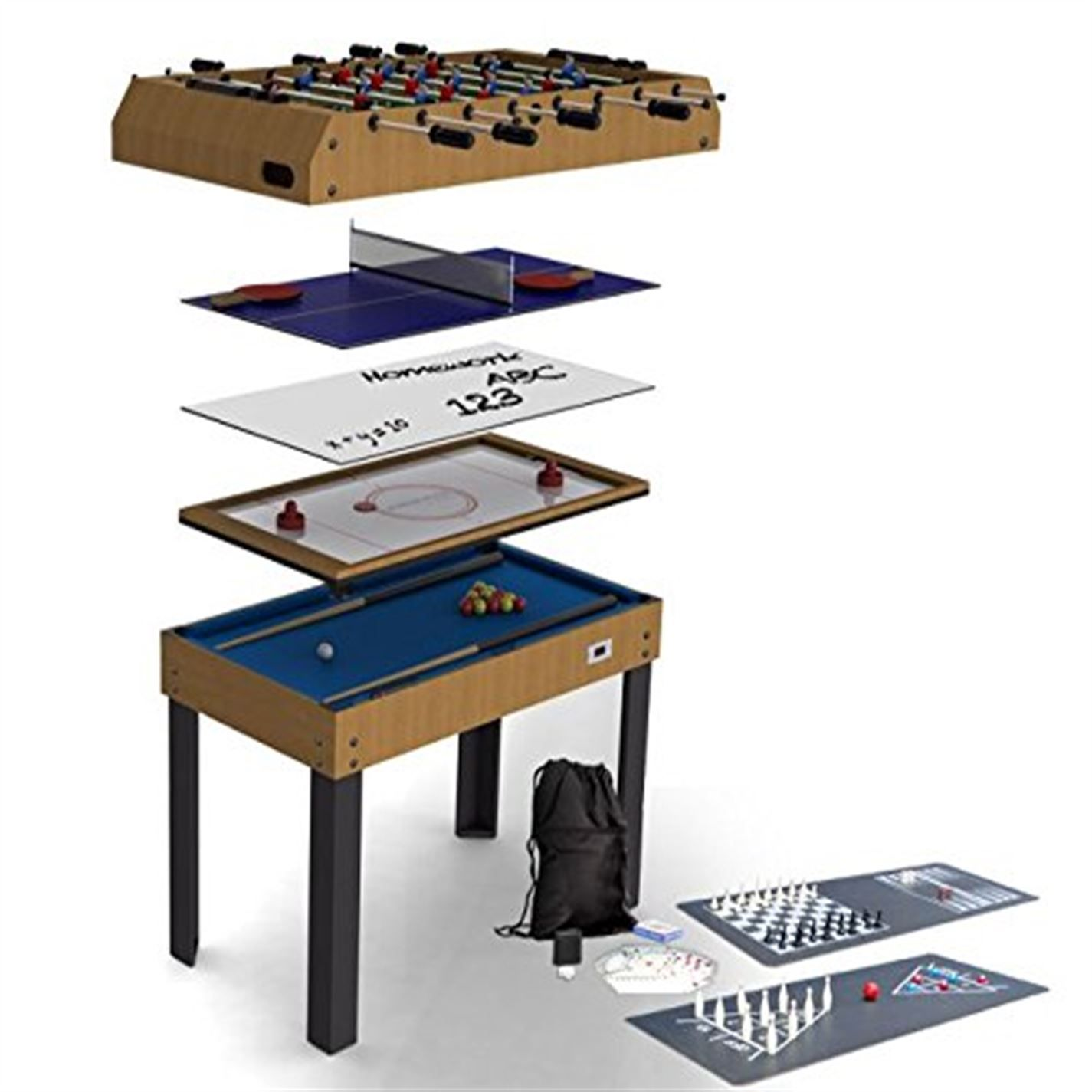 Riley Riley 4ft 4 In 1 Games Table Games Multi Game Table Table Games Air Hockey