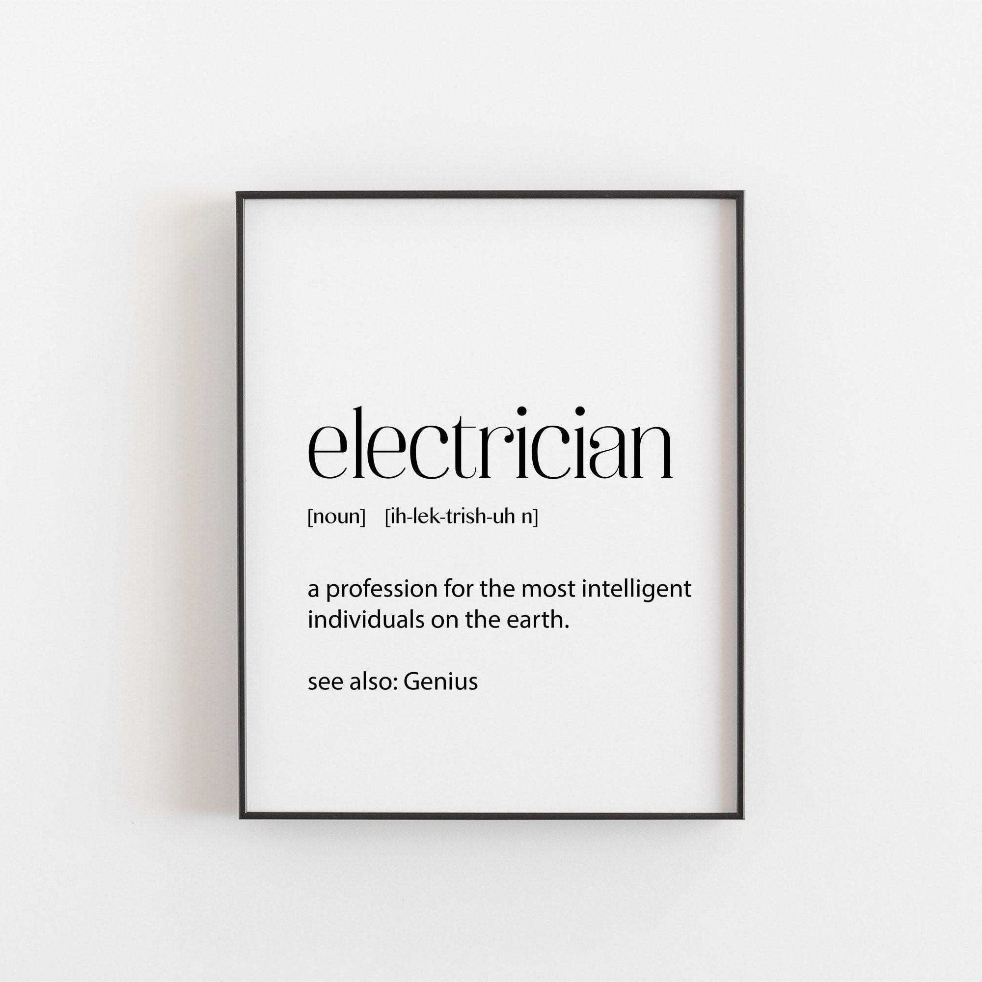 Electrician electrician gift electrician decor handyman
