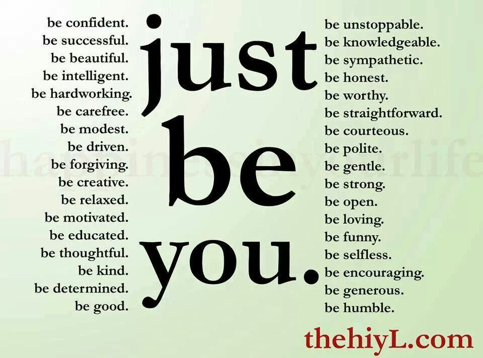 Be you.....