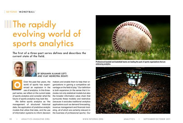 Beyond 'Moneyball': The rapidly evolving world of sports