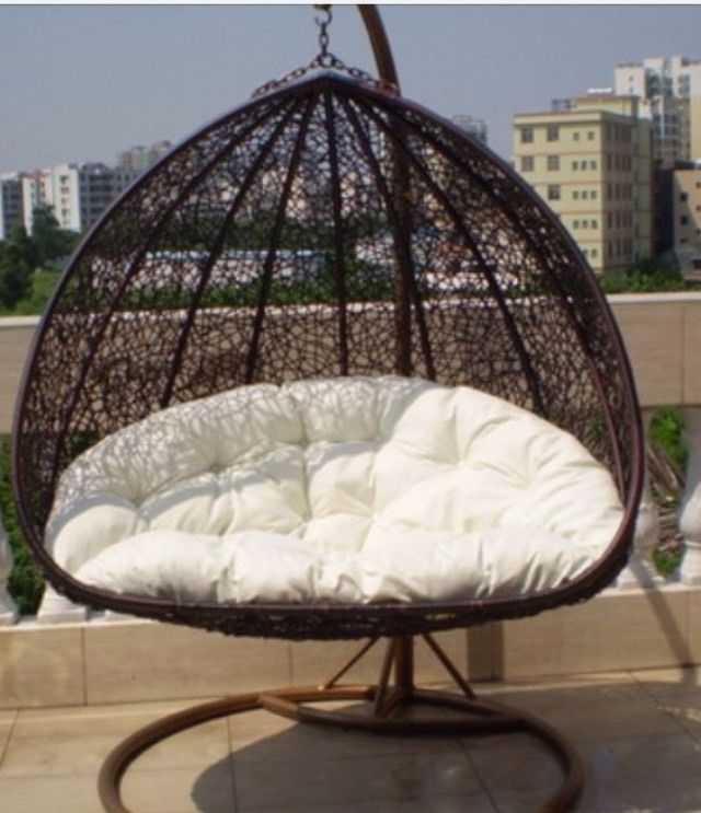 Swing Chair Sydney Barrel Slipcover Pattern Pe Ratten Hanging Egg Waterproof Cush Stand 2 Seater Double