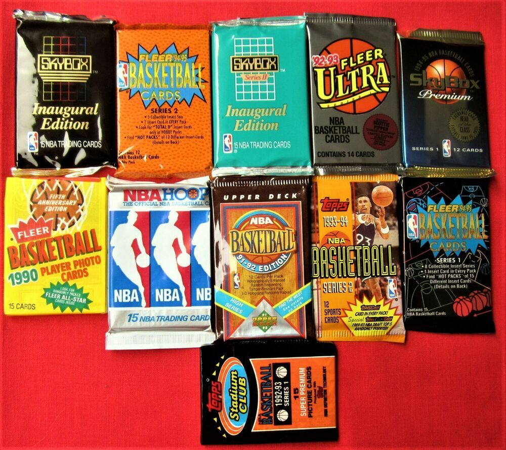 150 basketball cards 11 packs closeout 1990 95 ultra