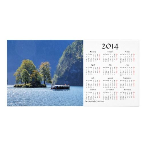 Berchtesgaden 2014 Calendar Photo Card