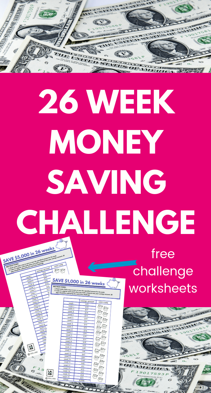 26 Week Money Challenge Printable Save 5000 Or 1000 Money