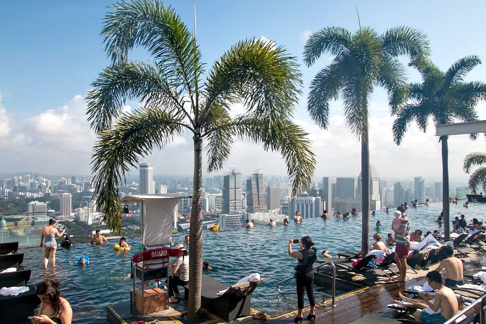 h chster infinity pool der welt marina bay sands hotel singapur singapur marina bay y marina. Black Bedroom Furniture Sets. Home Design Ideas