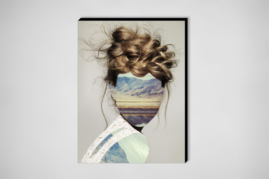"""Saatchi Online Artist: Erin Case; Digital, 2012, Assemblage / Collage """"Haircut 1 (with Andrew Tamlyn)"""""""