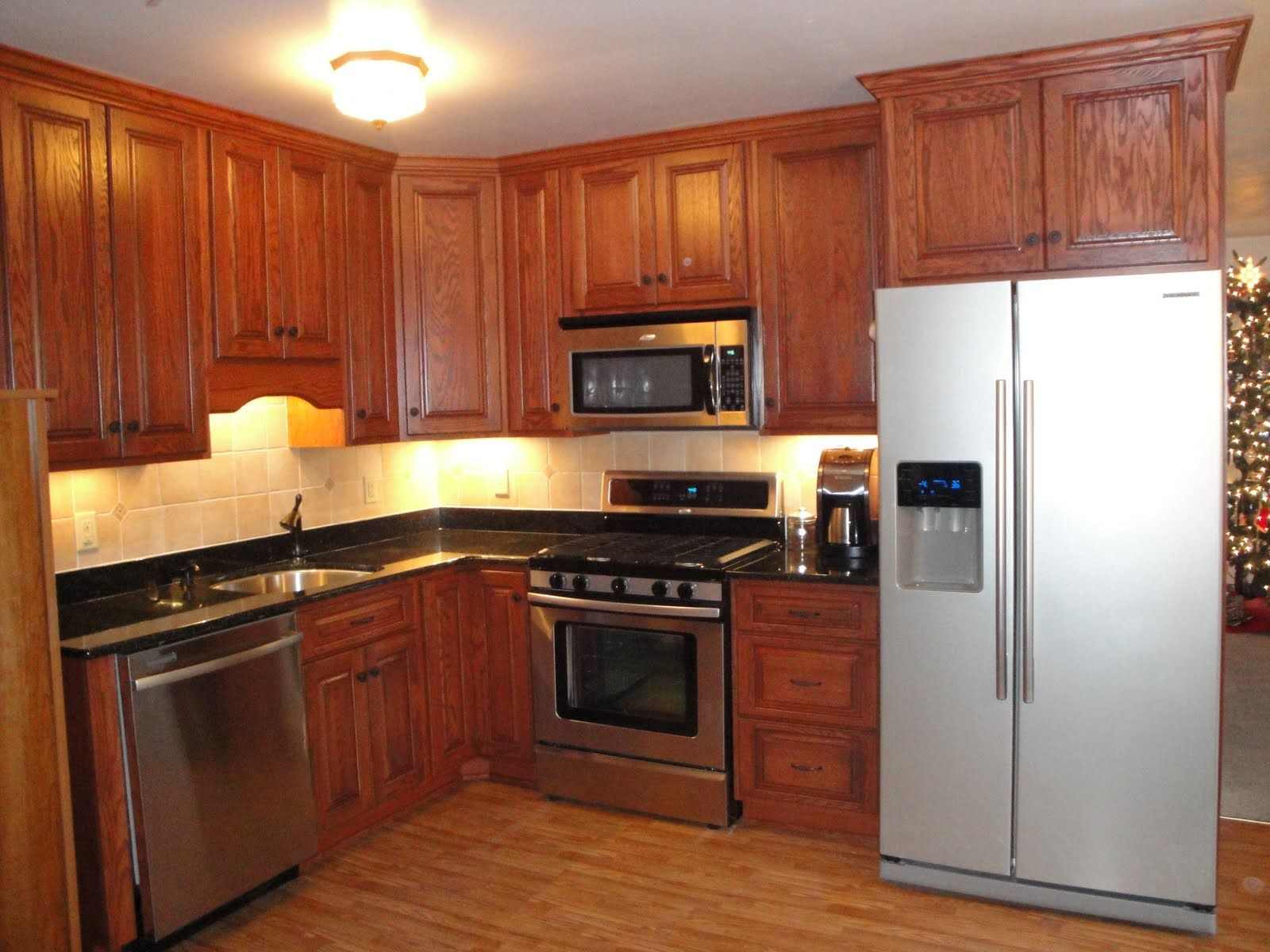 oak cabinets stained dark | Kitchen | Pinterest | Oak ...