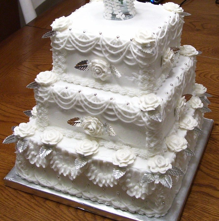 old fashion weddings | Old-Fashioned Wedding Cake — Square Wedding ...