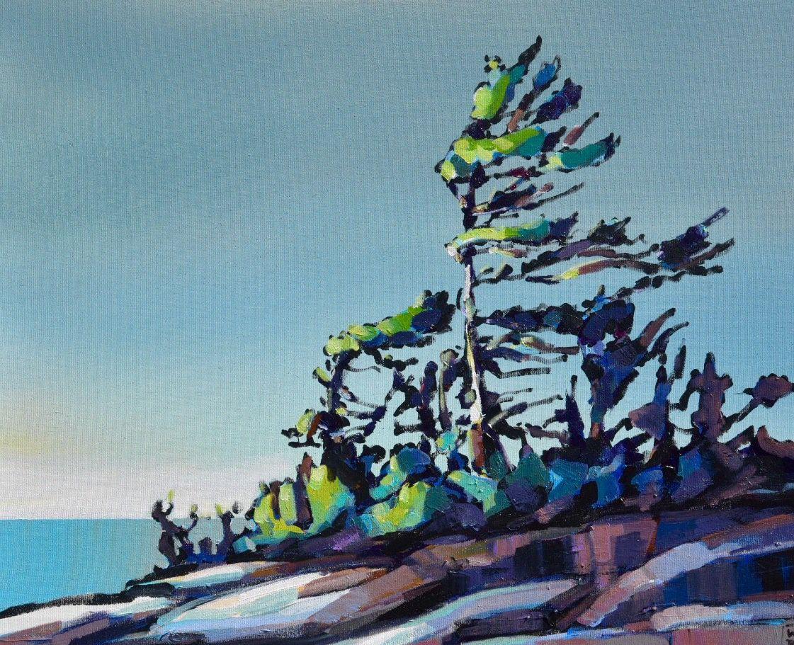 """""""Georgian Bay -  day 22x28 acrylic on canvas www.werbeland.ca"""