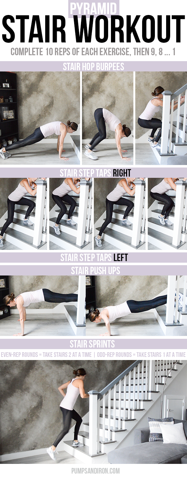 Stair Pyramid Workout Pumps Iron Stairs Workout Pyramid Workout Bodyweight Workout