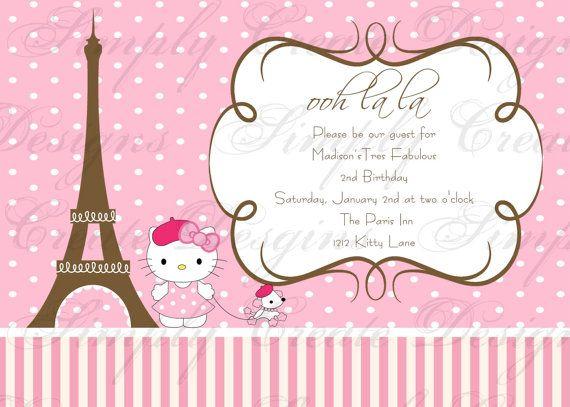 Ts birthday pinteres birthday invitation hello kitty in paris stopboris Image collections
