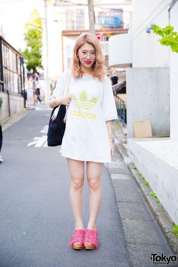 pink adidas shirt japanese