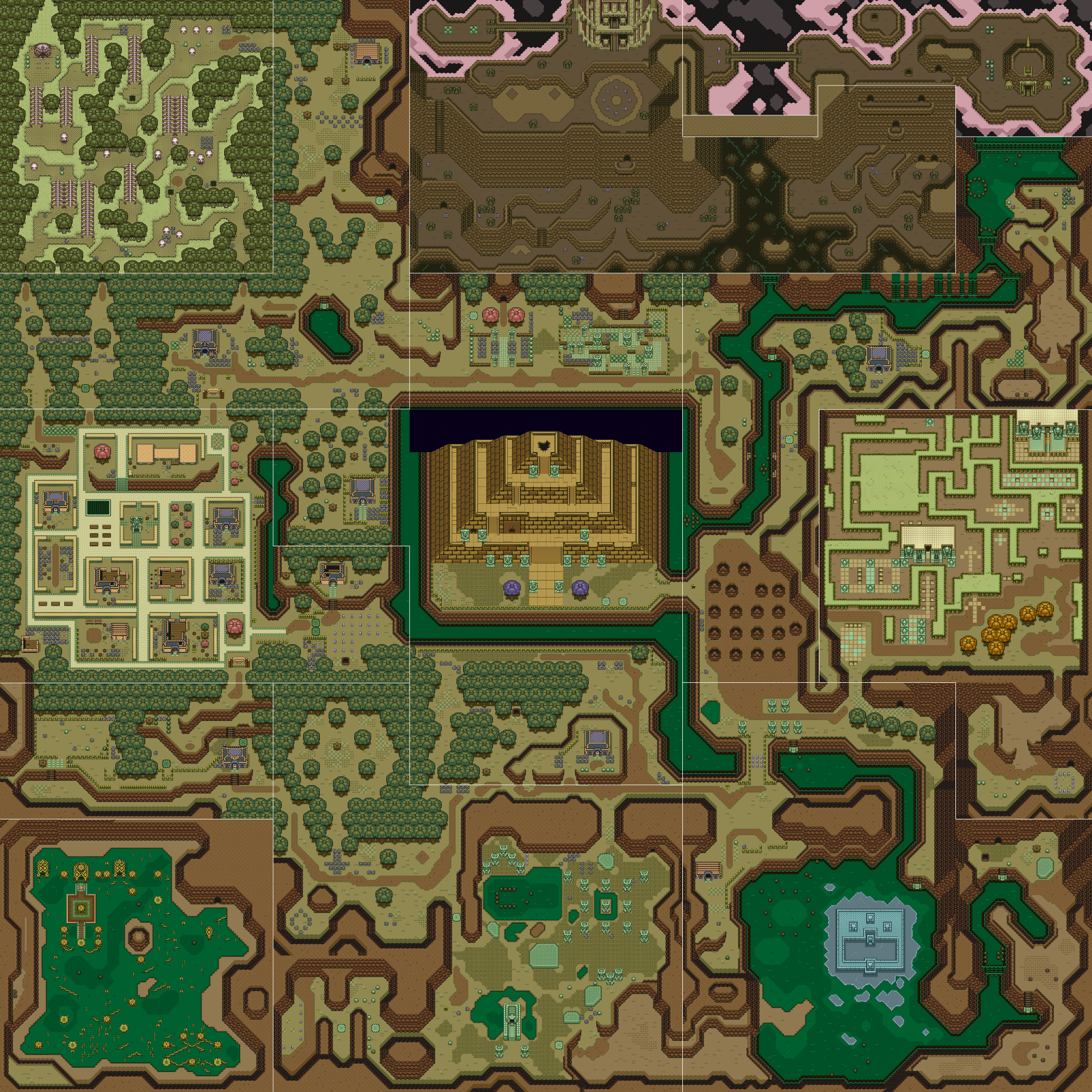 A link to the past overworld map dark worldg gaming a link to the past overworld map dark worldg sciox Image collections