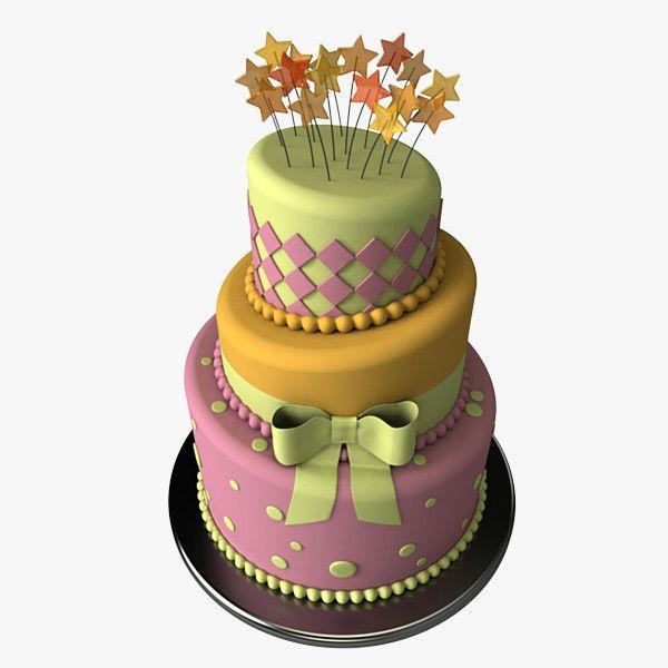 3ds Stylized Cake 3d Model 3d Modeling Pinterest