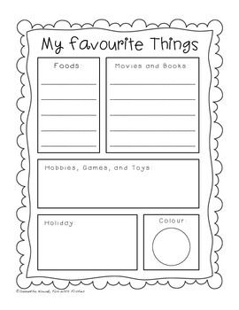 about me template for students - all about me a template to help your kiddies create their