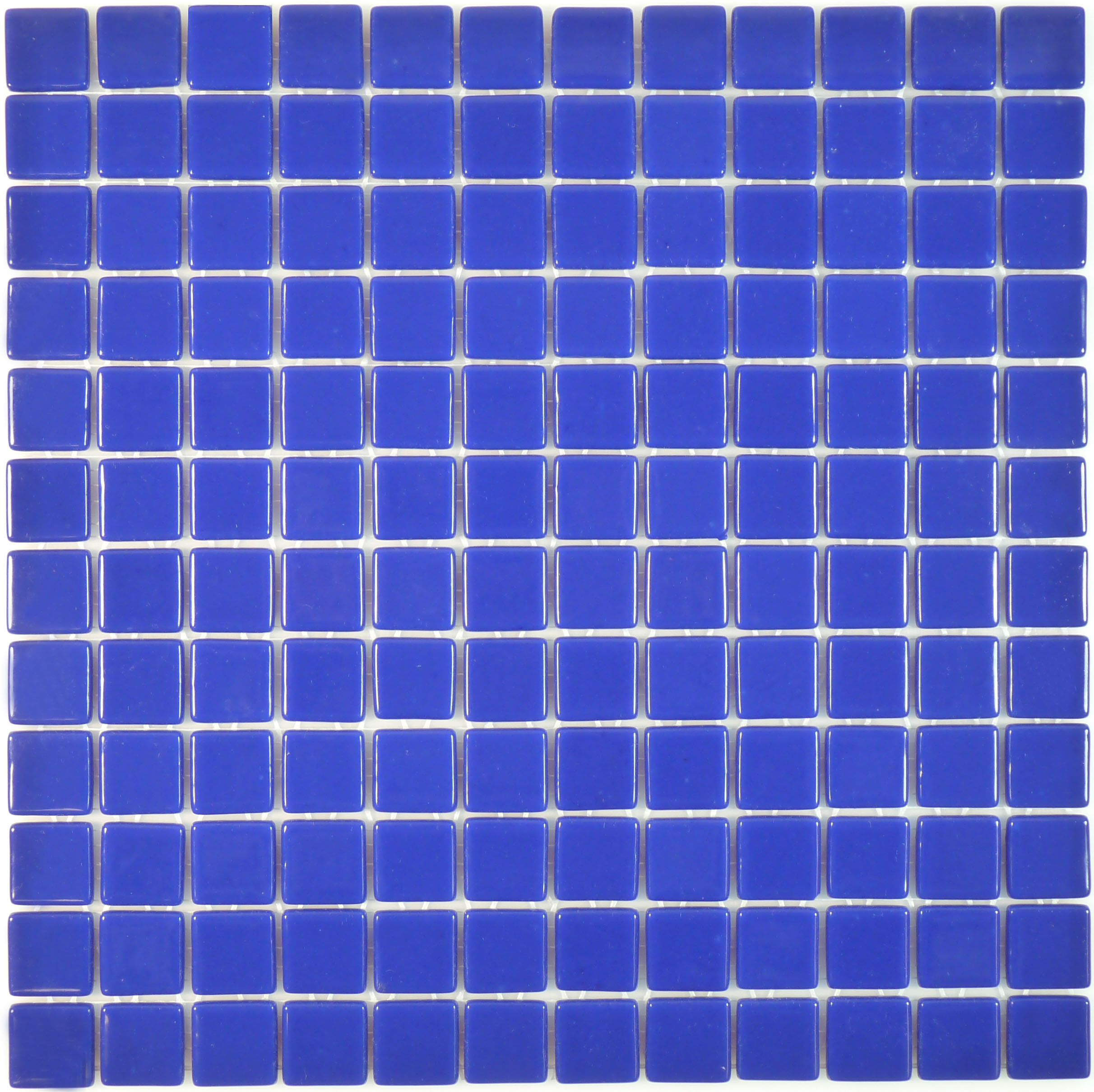 Ink Blue Glossy Glass Tile | Glass