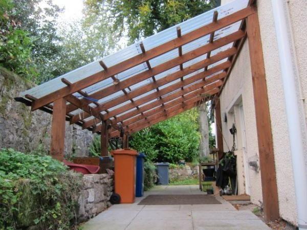 Auvent de terrasse bois adossant 6mc ABS3020 Pergolas, Patios and - faire une terrasse pas cher