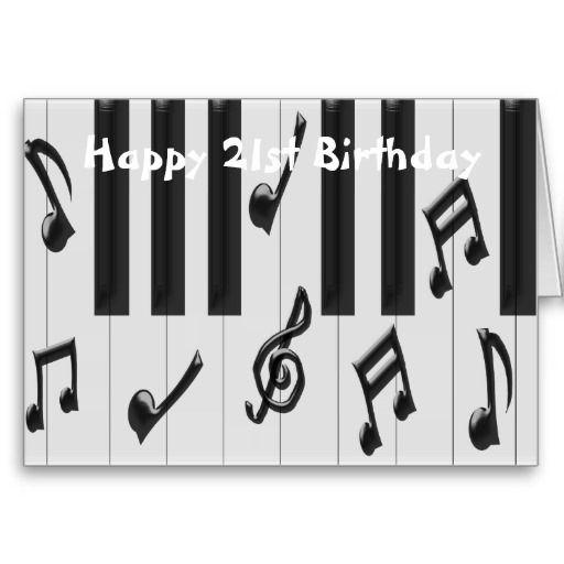 Piano 21st Birthday Card Zazzle Com 21st Birthday Cards Birthday Cards 21st Birthday